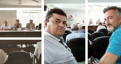 Bancários Joinville em reunião de sindicalistas com Dr. Guilherme, do MPT