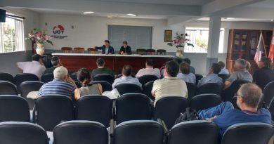 Sindicato dos Bancários participa de debate entre lideranças sindicais de Joinville
