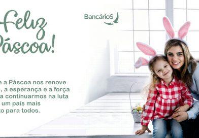 Feliz Páscoa aos bancários e financiários de Joinville e região!