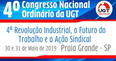 Sindicato presente no 4° Congresso Nacional da União Geral dos Trabalhadores