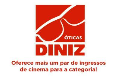 Óticas Diniz oferece mais um par de ingressos de cinema para a categoria