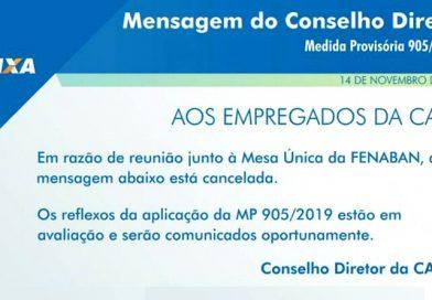Acordo Coletivo assinado em 2018 faz Caixa recuar de MP de Bolsonaro